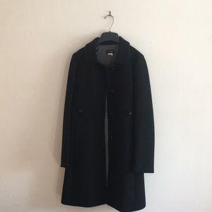 J Crew Black Pea Coat